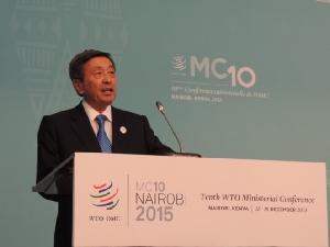 (WTO閣僚会議でスピーチ)