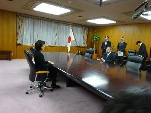 (丸川大臣と会談)