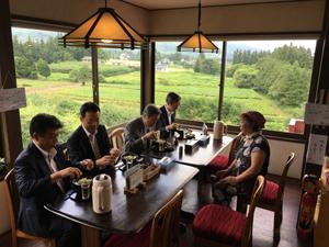 (福島復興協議会。向かって右から丸川大臣、高木大臣、林大臣、高木副大臣)